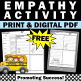 Free Empathy Activities, Language Arts Vocabulary Writing Worksheets