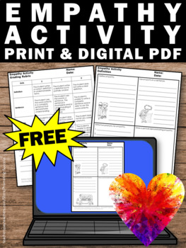 Free Sample Empathy Activities Distance Learning Independent Work Packet