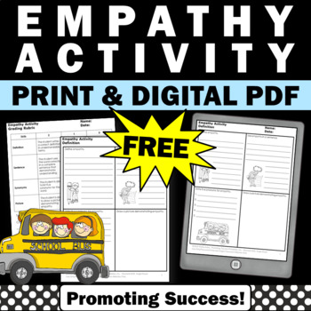 Free Empathy Vocabulary Definition Activity #kindnessnatio