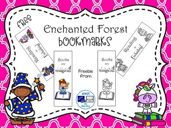 Free Enchanted Forest Themed Bookmarks