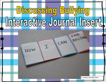 Free End Bullying (Interactive Journal Insert)