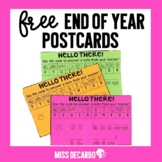 Free End of Year Postcards for Distance Learning