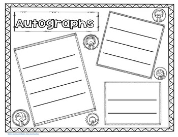 Free End of Year Who is Who in My Class and Autograph Booklet