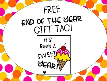 Free-End of the Year Gift Tag