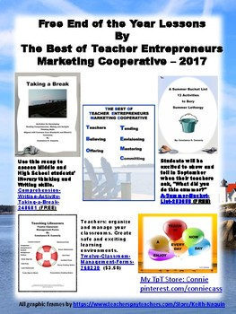 Free End of the Year Lessons By The Best of Teacher Entrepreneurs MC - 2017