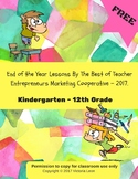 Free End of the Year Lessons By The Best of Teacher Entrep
