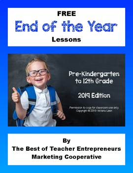Free End of the Year Lessons By The Best of Teacher Entrepreneurs MC - 2019