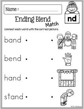 Free Ending Blends Activities