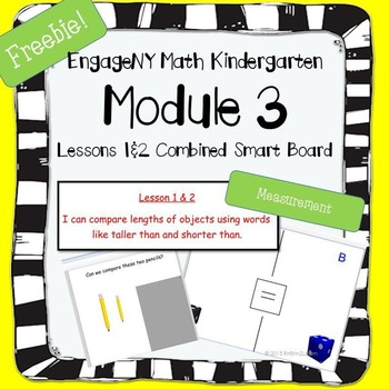 Free Engage NY Math Kindergarten Module 3 Lesson 1&2 for Smart Board