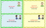 Free Bilingual English French Vocabulary and Usage Flashcards