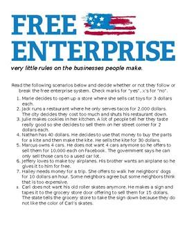 Free Enterprise System Worksheet