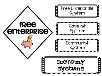 Free Enterprise and Economy Systems Interactive Notebook