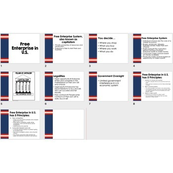 Free Enterprise in the US Guided Notes & PowerPoint,  Economic Notes