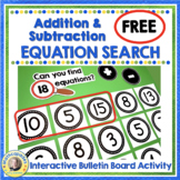 Addition and Subtraction Facts Game FREE