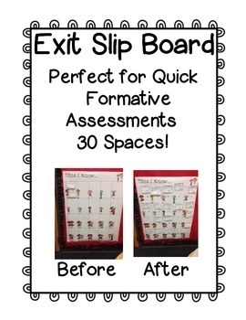 Free Exit Slip Board to 30
