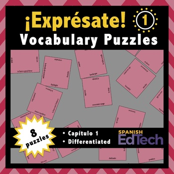 Free Exprésate 1 Spanish Vocabulary Puzzles (Capítulo 1)