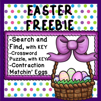 Free FREEBIE EASTER SPRING  Morning Work  Worksheets  No p