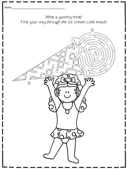 Free FREEBIE Summer Activities  Morning Work  Worksheets  No prep  Print and Go