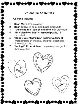 Free FREEBIE VALENTINE'S DAY  Morning Work  Worksheets  No prep  Print and Go
