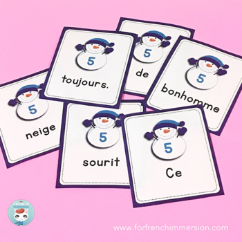 French Winter Sentence Builders | HIVER