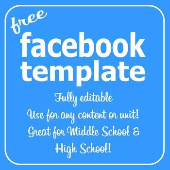 editable facebook template teaching resources teachers pay teachers