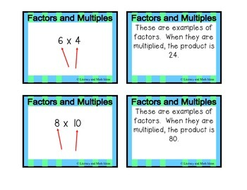 **Free** Factors and Multiples Card Game