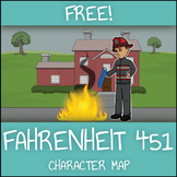FREE Fahrenheit 451 Character Map Graphic Organizer