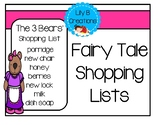 Free - Fairy Tale Shopping Lists