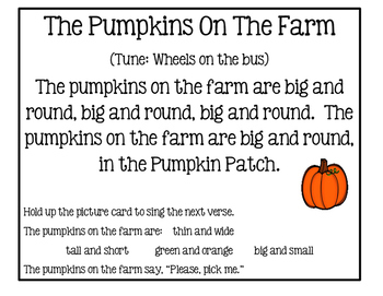 Free Fall Adjective Song - The Pumpkins On The Farm