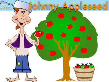 Fall Apples and Johnny Appleseed Clip Art