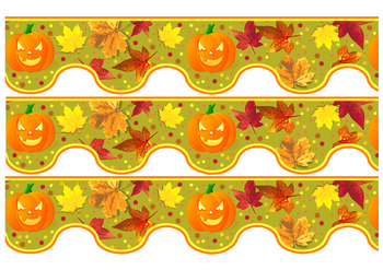 photograph relating to Free Printable Halloween Borders named Absolutely free Tumble Autumn Halloween Bulletin Border Body Printable TpT