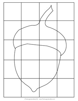 Fall Coloring Pages - Free Pop Art Acorn Activity