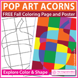 Fall Coloring Pages | Free Pop Art Acorn Activity