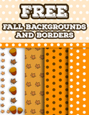 Free Fall Backgrounds and Borders Clip Art
