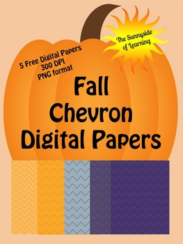 Free Fall Chevron Digital Papers for Commercial or Personal Use