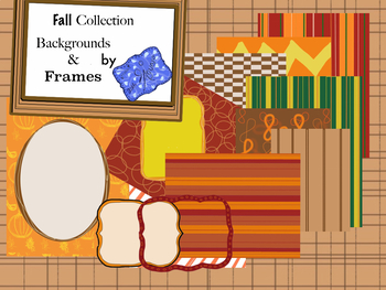 Free Fall Collection: Backgrounds & Borders