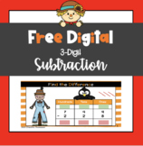 Free Fall: Digital 3 Digit Subtraction with Regrouping