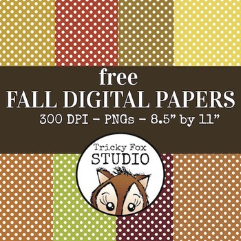 Free Fall Digital Papers: Polkadot Autumn Digital Papers