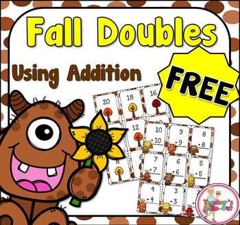 Free Fall Double Addition Cards and Games