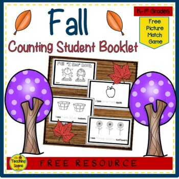 """Fall """"I See""""  Counting & Coloring Booklet {FREE}"""