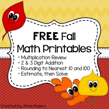 Free Fall Math Printables