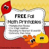 Free Fall Math Printables