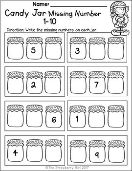 Free Kindergarten Math Worksheets - Fall