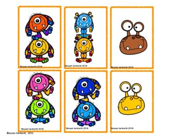 Free Compare and Contrast Fall Monster Cards for Speech Therapy