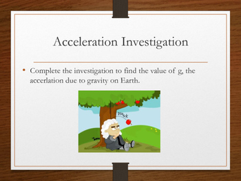 Free Fall Motion: Acceleration due to Gravity