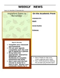 Free Fall Newsletter Template