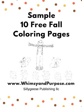 Free Fall Sample Coloring Pages