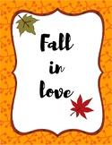 Free Fall Season Printable Poster