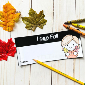 Free Fall Sight Word Interactive Reader: see