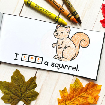 Free Fall Sight Word Interactive Reader: see